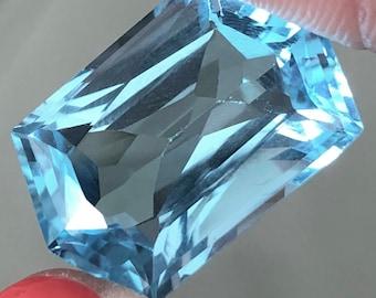 Blue Topaz fancy cut 27.59 cts item202