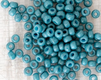 6/0 Miyuki Dyed Semi Frost Opaque Shale Blue Seed Beads - 15 grams - Color 6-1685 - Miyuki 6/0 Shale Blue Seed Beads - 2124