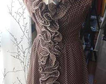 1960s-70s swiss dot dress
