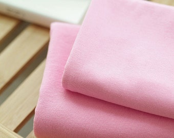 Solid Cotton Jersey or Ribbing Knit Fabric for Binding Necklines, Cuffs, Armholes - Pink - By the Yard