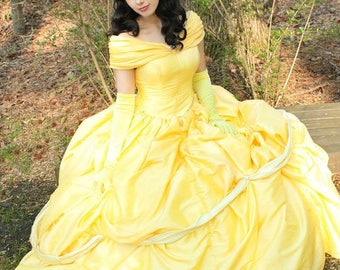 Belle Beauty And The Beast Custom Made Cosplay Costume Gown