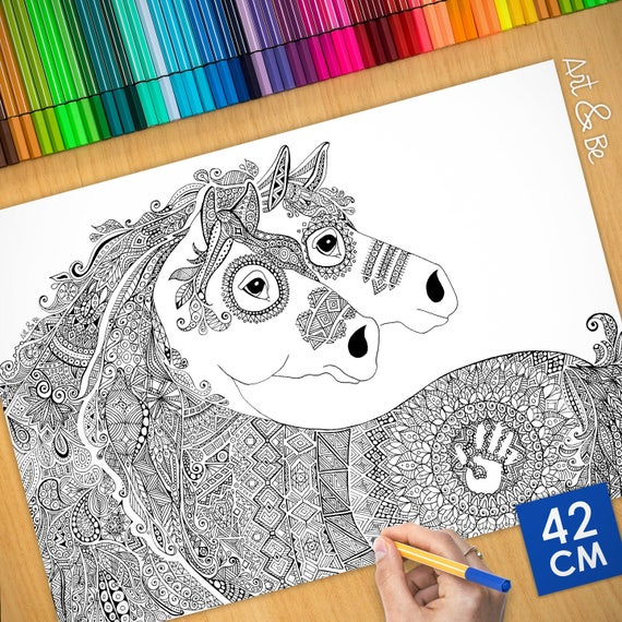 Coloring poster - MUSTANG...