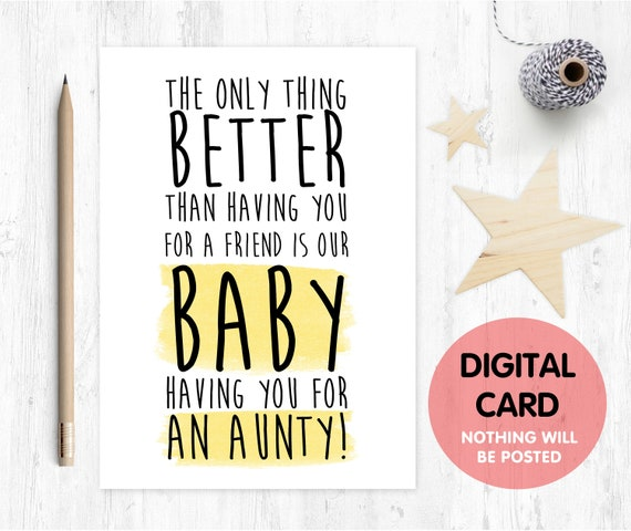 PRINTABLE pregnancy announcement friend you're going to be an aunty instant download aunty reveal love paper rainbow I'm pregnant