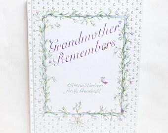 1983 Grandmother's Memories Book | Grandmother Remembers | Written Heirloom for Grandchild | Gift for Grandchild | Gift for Grandmother