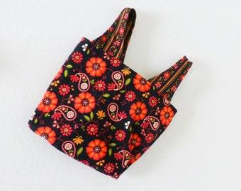 Beach tote bag, reusable grocery bag, market tote bag, beach bag, floral print, summer purse, cute bag, ready to ship, handmade, gift idea