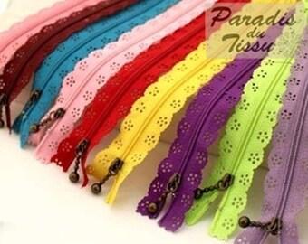 zippers 24 fancy lace lace 20 cm