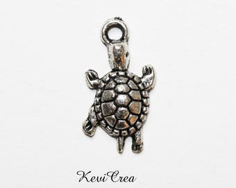Silver / bronze or copper - turtle 5 x