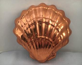 Vintage Copper Mold - Copper Mold - Vintage Mold - Shell - Shell Mold - Copper Shell Mold - Beach House Decor - Beach Decor - Rustic Kitchen