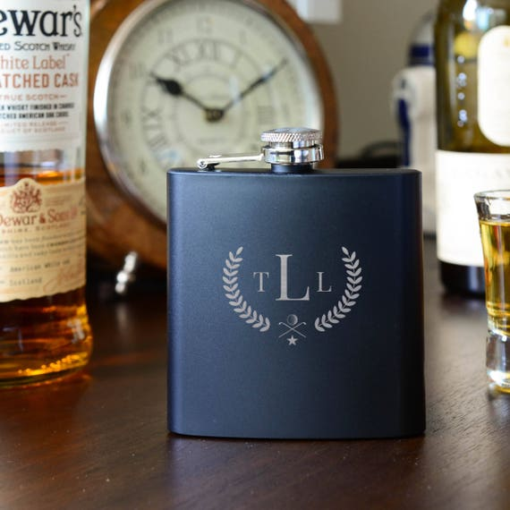 Personalized flask | golf flask | best man flask | groomsman gift | name on flask | wedding party gift | father of bride gift