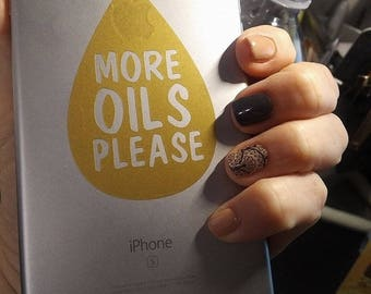 """1 x """"More Oils Please"""" essential oils decal (for your phone, books, computer, etc)"""