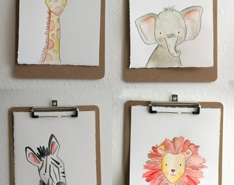 Safari Animal Nursery Prints (4)