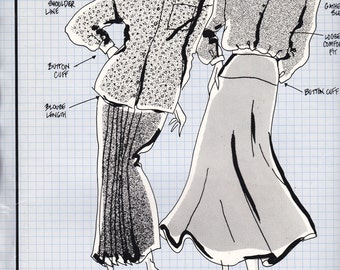 80's Sewing Pattern - Knitwit 6000 Designer Overshirts Size 6 - 22 Factory folded and complete