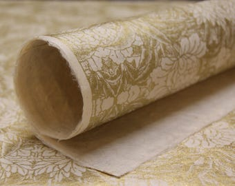 Gold Floral Pattern Lotka Wrapping Paper Holiday Gift Wrap 3 sheets invitation paper