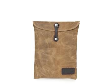 Leather Canvas Ipad Case