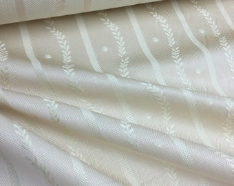 "GREY WATKINS ""Edinburgh - Creme"" decorator fabric 23.5 yards - Inventory Reduction SALE"