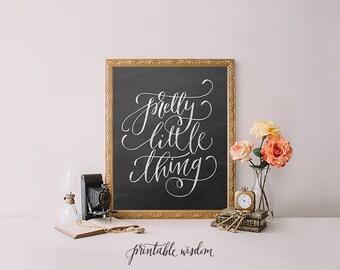 Printable Wisdom wall art print, printable art, Nursery art, nursery decor, Pretty little thing, chalkboard print, nursery print calligraphy