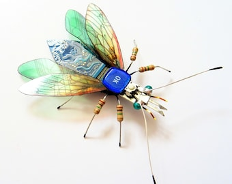 The Little 'OK Computer' FLY, Ciruit Board Insect by Julie Alice Chappell