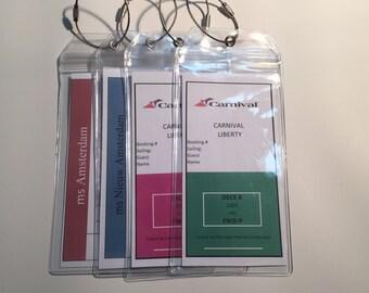 Premium Cruise Luggage Tag Holders (Set of 4)