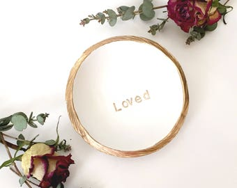 Personalized Word Jewelry Dish / Personalized Ring Dish / Personalized Jewelry Dish / Engagement Gift / Bridesmaids Gift / Gifts for Her