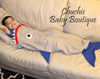 Shark Blanket Kids Blanket Shark Tail Blanket Fleece Shark Blanket