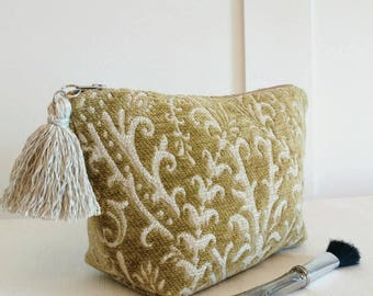 Autumn makeup bag fall makeup bag Autumn decor gifts tapestry makeup bag tassel zipper pouch coworker gifts for her Autumn gift tapestry bag