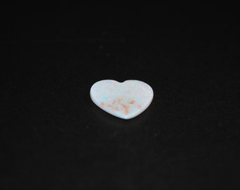 14.8 x 15 (2.89ct) White Heart Shape Opal Stone