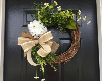 spring summer wreath, spring decor, summer door wreath, front door wreath, wreaths