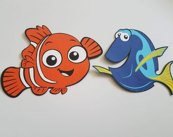 Nemo and Dory Die Cuts, Finding Nemo, Fingding Dory, Under the the Sea Party,