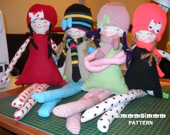 PATTERN  , Jale , the cloth doll, handmade,soft doll,fabric doll