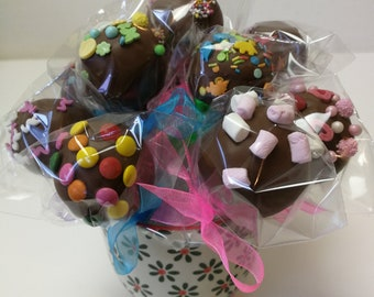 Cake Pops Chocolate Flavour Box of 6 Great Gift Idea UK
