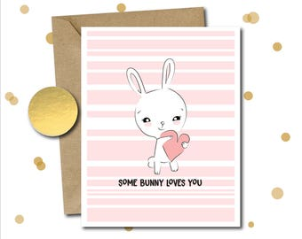 Easter gift card etsy easter card cute love easter gifts easter card pack easter bunny negle Images