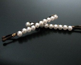 mini pearl bobbies bobby pin hair clip