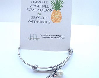 Pineapple Bangle Dainty Pineapple Bangle