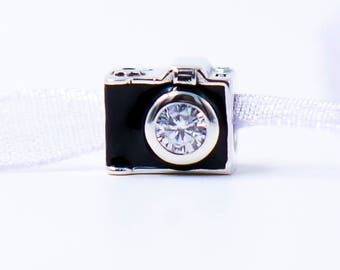 Camera Charm S925 Sterling Silver Charms Camera Bead Retro Camera Charm Photographer Charm Photography Charm Fits European Charm Bracelets