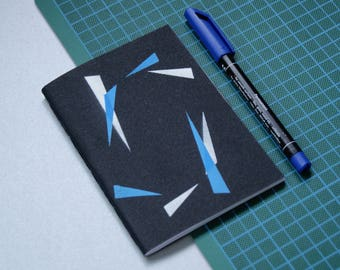 Notebook - journal - graphic A6 notebook - sketchbook with drawings