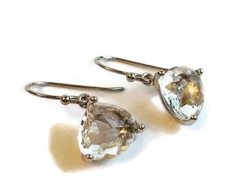 Cubic Zirconia Silver Drop Earring