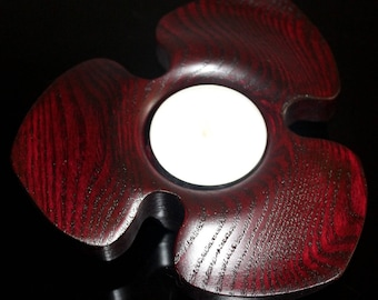 """Candle holder red """"flower"""""""