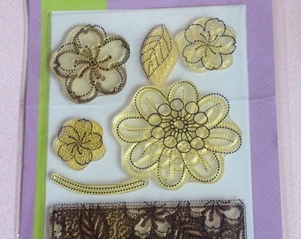 Floral Acrylic Stamps Set