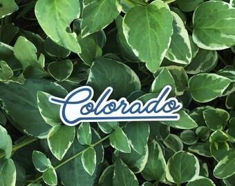Colorado Script Typography   Vinyl Sticker Design