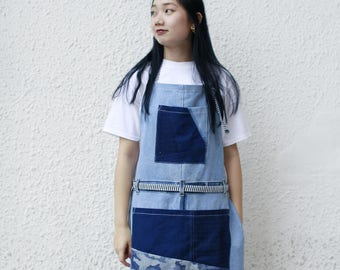 Vintage Denim Patchwork Apron
