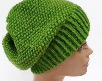 St Patrick's Day Slouchy Hat - Irish Green Slouchy Hat - Slouchy Beanie - Irish Green Beanie - Teen Beanie - St Patrick's Day Beanie