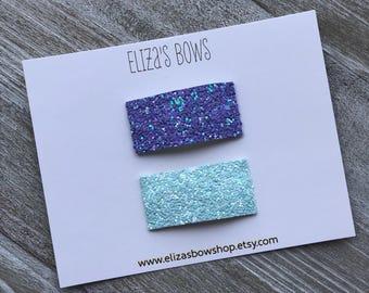 Glitter Snap Clip Set