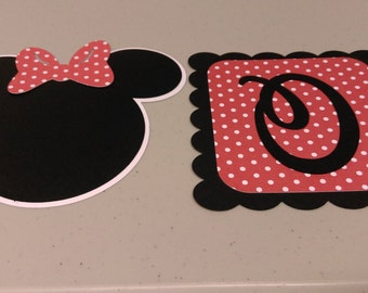 Age ONE Minnie Mouse Birthday Banner, High Chair Banner, Red Minnie Banner, DIY Banner, High Chair Birthday Banner