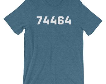 74464 Tahlequah Oklahoma ZIP Code Shirt