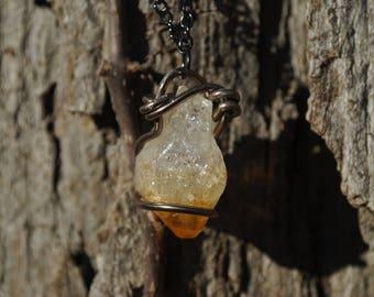 Citrine quartz pendant