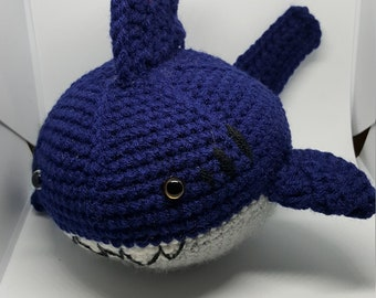 Navy Blue Crochet Shark