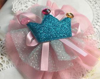 Princess  hair clip ,  flower hair clip, Wedding Accessory,Hair accessory, baby hair clip, princess tiara hair clip