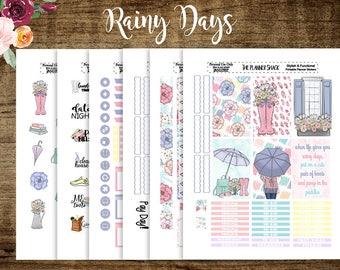 Rainy Days | 2018 Big Happy Planner | Big Happy Planner | Printable Planner Stickers | Planner Printables | Spring | Floral | Cut Files