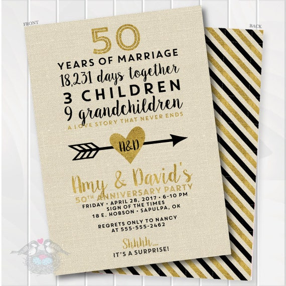 Golden Wedding Anniversary Invitations Wording