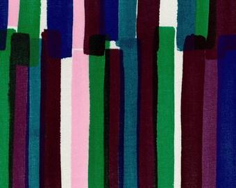 Nani IRO Fabric - Grace 2018 - Double Gauze - Japanese Kokka Fabric - Purple Pink Blue Green Stripe
